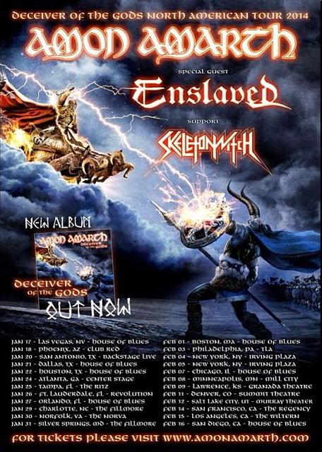 Список концертов Amon Amarth в США
